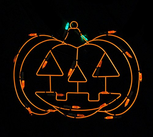 ted LED Lighted Pumpkin Halloween Window Silhouette Decoration, 12