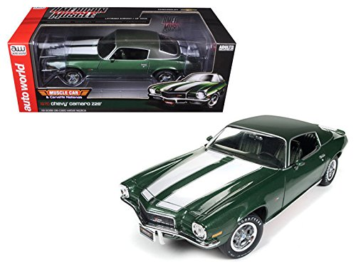 AUTO WORLD 1:18 AMERICAN MUSCLE - 1970 CHEVROLET CAMARO Z28 - MUSCLE CAR & CORVETTE NATIONALS AMM1095