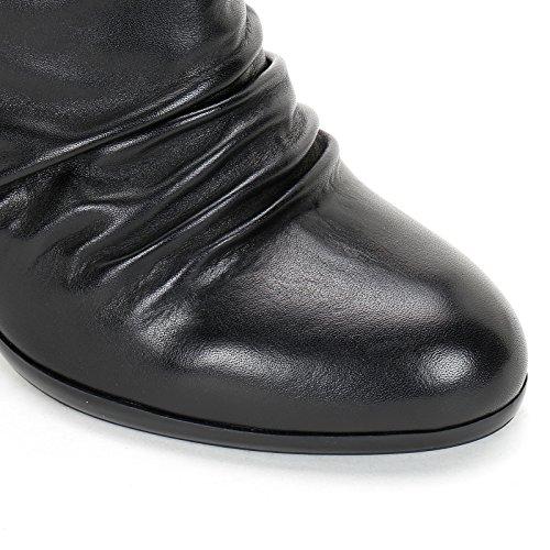 Plis Alesya Hautes et Noir avec en amp;Scarpe by Bottines à Élastique Talons Cuir CM 9 Scarpe 0rqI0Yw