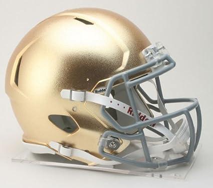 dda62b99 NCAA Riddell Notre Dame Fighting Irish Authentic Full-Size Speed Helmet  Textured Gold Finish