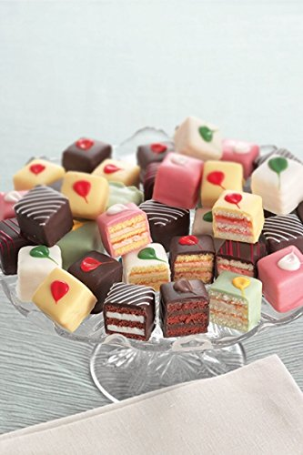 Best Traditional Petit Fours - Bite Size Frozen Dessert Appetizers (60 Piece Tray) ()