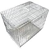 Ellie-Bo Silver 48 inch XXLarge 2 Door Folding Dog Puppy Cage
