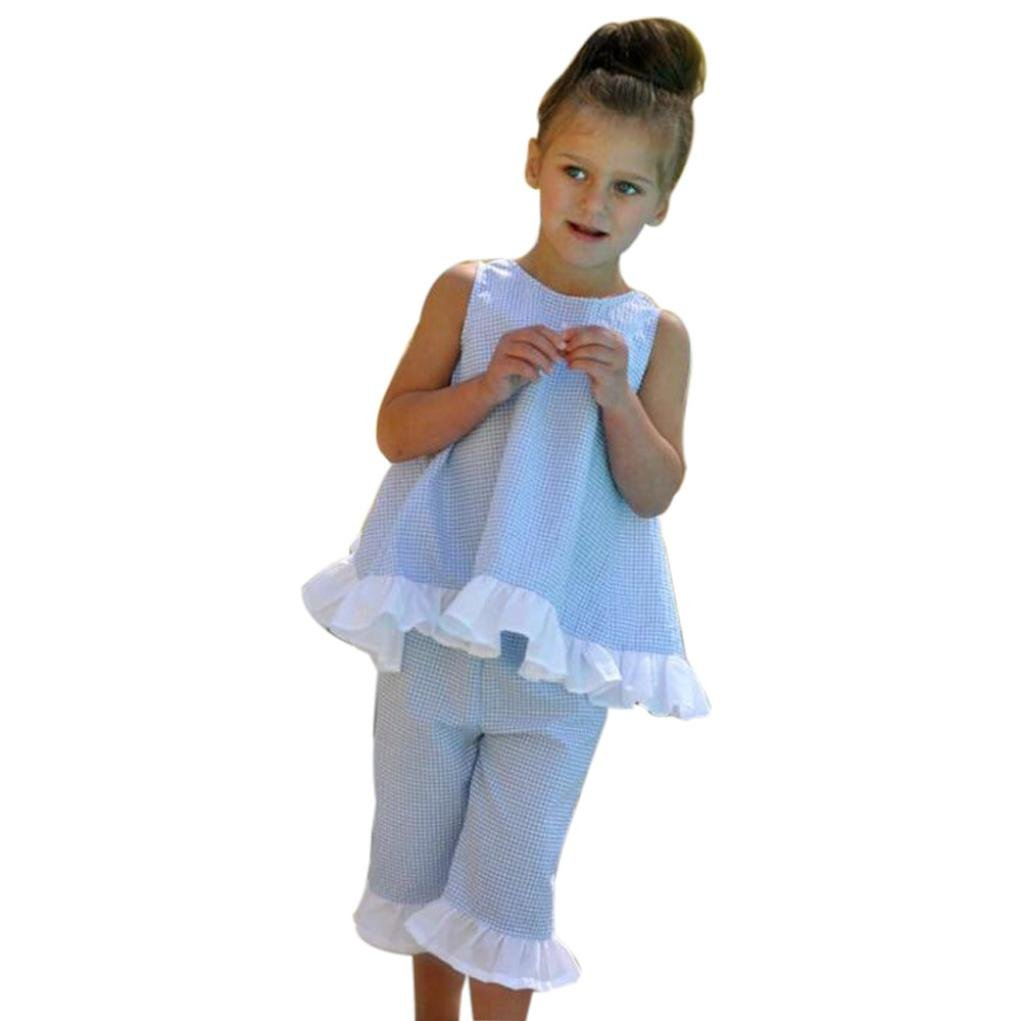Shorts Pants Clothes Outfits Set Fabal Summer 2PCS Kids Baby Girl Cute Bow Vest Tops