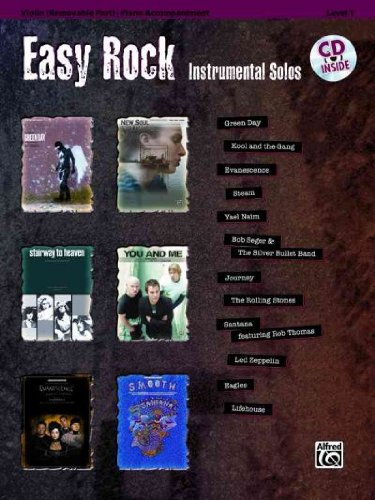 Easy Rock Instrumentals For Strings Level 1 Violin (Easy Rock Instrumental Solos) Easy Rock Instrumentals For Strings Level (Instrumental Solo Easy Violin)