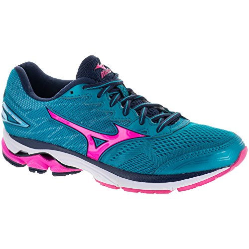 Mizuno Wave Rider 20 Womenâ€s Running Shoes, Teal, US7
