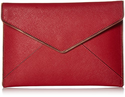 Rebecca Minkoff Leo Clutch, Deep Red