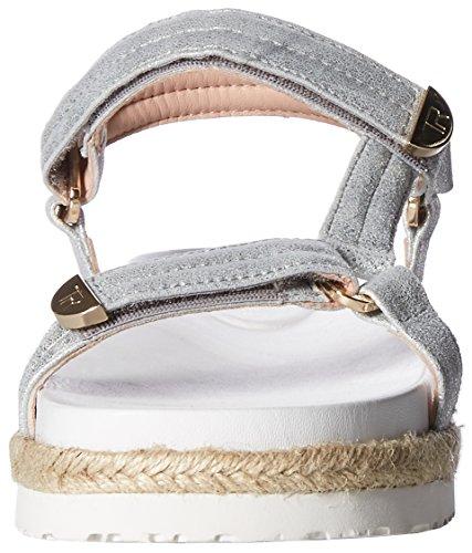 Sandal Flat Metallic Lydia Nappa Taryn Silver Women's Rose qSA6XYP