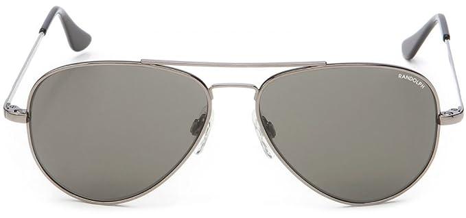 883aedcc528d Randolph Engineering Concorde Gun Metal Sunglasses | Gray AR Skull - Metal/ Gray - 52