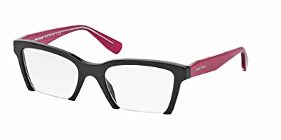 0dbd3328564 Image Unavailable. Image not available for. Color  Miu Miu MU04NV Eyeglasses-1AB 1O1  Black-52mm