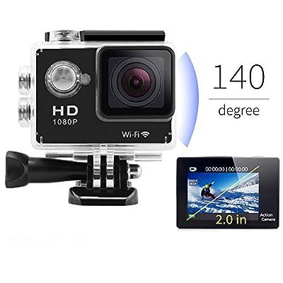 SportShot Shot2-Black 12 Megapixel Waterproof Sports Camera 2-inch LCD Screen with Mounting Accesories