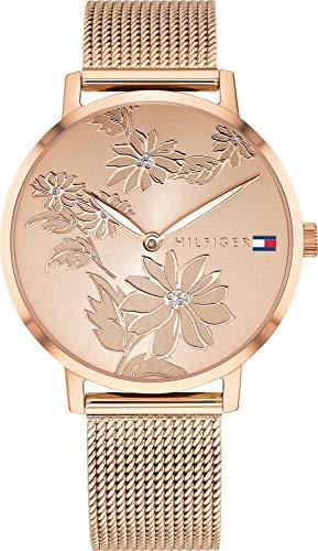 Tommy Hilfiger Women's Quartz Watch with Strap, Rose Gold, 16 (Model: 1781922)