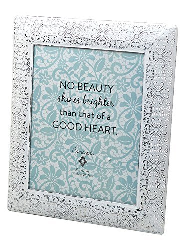 """Concepts White Lace Metal Picture Frame 8""""x10"""""""