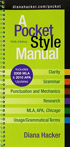 Pocket Style Manual 5e with 2009 MLA and 2010 APA Updates & MLA Quick Reference Card & APA Quick Reference Card