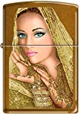 Zippo Exotic Woman Bride Princes With Golden Veil Toffee Lighter NEW Rare