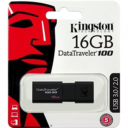 Kingston 16GB 16G DataTraveler 100 G3 USB 3.0 Flash Pen Drive DT100G3/16GB Retai
