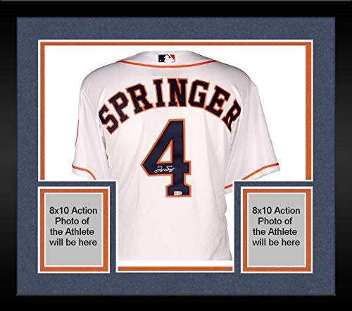 Framed George Springer Houston Astros Autographed Majestic Authentic Home Jersey - Fanatics Authentic Certified Autographed Authentic Majestic Home Jersey