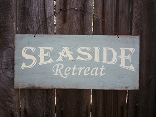 Woodensign Seaside Retreat Sign - Beach Sign - Beach House - Ocean Theme - Coastal Decor - Beach House Decor ()