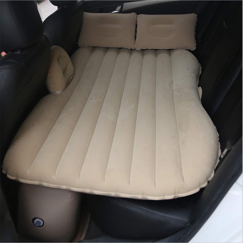 HXYL Auto-Aufblasbare Matratze, Tragbares Auto-Aufblasbares Luftbett, Für Das Aufblasen Von Sofas Im Wasser, Grünraute Tätigkeiten Im Auto, Kampierend Beige