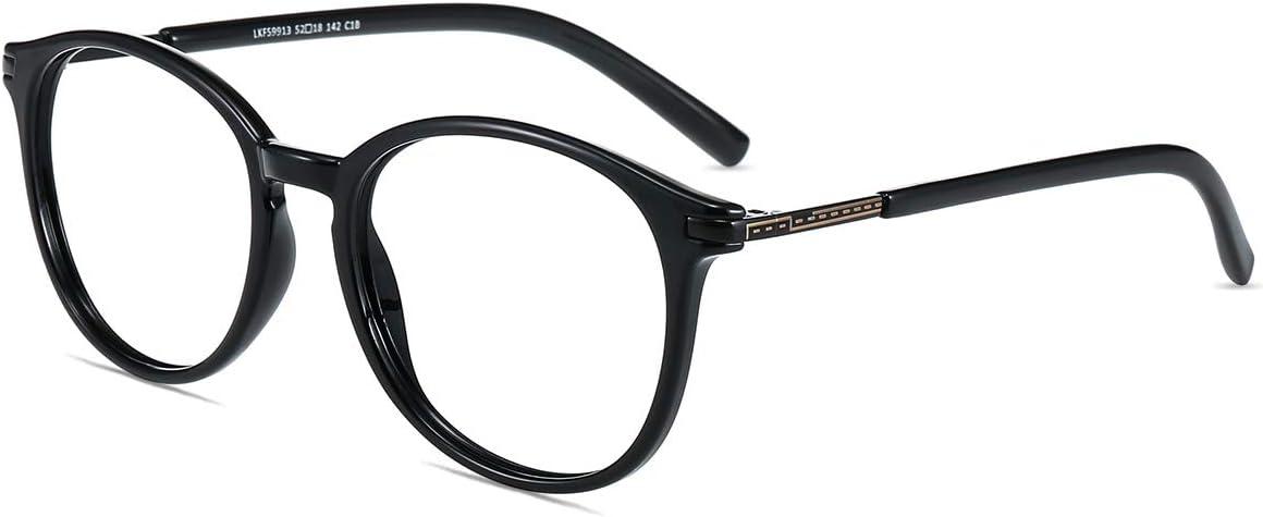 Firmoo Gafas Luz Azul para Mujer Hombre, Gafas Filtro Antifatiga Anti luz Azul y contra UV400 Ordenador de Gafas Montura TR90 para Protección los Ojos, L9913 Negro