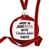 Christmas Decoration Made in America with Parts from Thailand Ornament