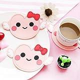 BrawljRORty Coaster, Cartoon Little Angle Tea Coaster Cup Holder Mat Coffee Drinks Decor Pad Gift
