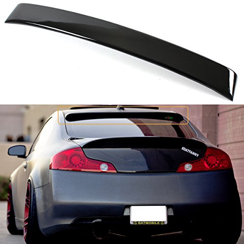FOR 2003-2007 INFINITI G35 2DR COUPE JDM VIP GLOSSY BLACK REAR WINDOW ROOF SPOILER WING ()