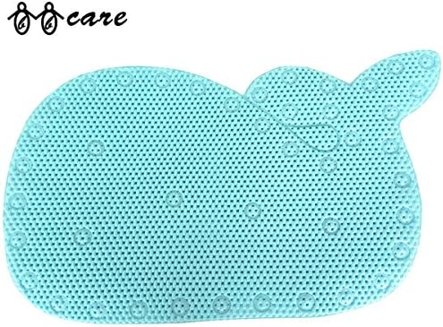 BBCare tappetino da vasca per bagnetto a forma di balena con ventose resistenti /¨C Blu