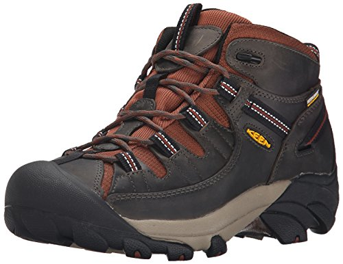 KEEN Men's Targhee II Mid Waterproof Hiking Boot, Raven/Tortoise Shell, 9 M US