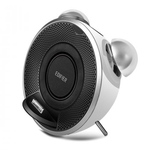 Nano Ipod Docking Station (Edifier Retro-Styled iTick Tock iPod/iPhone Docking System - White)