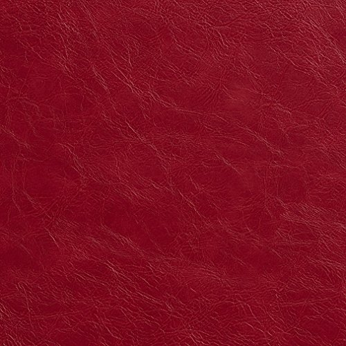 G626 Red Distressed Leather Look Upholstery Grade Recycled Leather (Bonded Leather) by The Yard