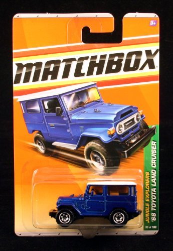 '68 TOYOTA LAND CRUISER BLUE Jungle Explorers Series (#1 of 6) MATCHBOX 2010 Basic Die-Cast Vehicle (#95 of 100)