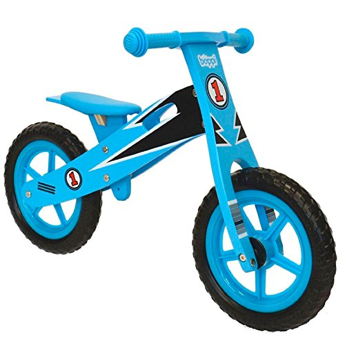Boppi Kids Wooden Balance Bike - 2, 3, 4 and 5 Years - Blue Racer by Boppi