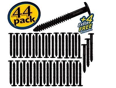 Window Shutters Panel Peg Loks Spikes 3 inch 48 pack (Black)