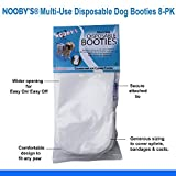 Nooby's Water Resistant Dog Boots 8 Pack: Multi-Use Disposable, Maximum Protection for Clean and Healthy Paws. Protects Wounds, Bandages and Casts During Short Walks Outdoors. (L 3.5' - 4.5' Width)