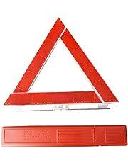 AAGOOD Triangle d'avertissement de sécurité réflecteur Triangle d'avertissement Triple Route Hazard Triangle Symbole d'urgence Se connecter Accessoires Voiture