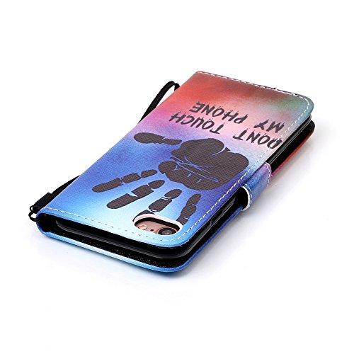 Custodia Apple iPhone 7 Cover Case, Ougger Cool Portafoglio PU Pelle Magnetico Stand Morbido Silicone Flip Bumper Protettivo Gomma Shell Borsa Custodie con Slot per Schede