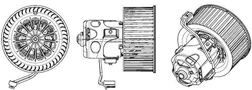 Hella 351043271 HVAC Blower Motor with Wheel for BMW