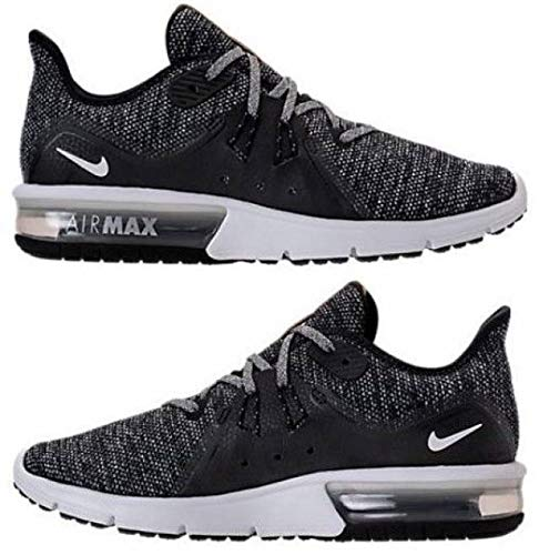4c595d0fa48 Galleon - Nike Air Max Sequent 3 Size 7.5 Womens Running Black White-Dark  Grey Shoes