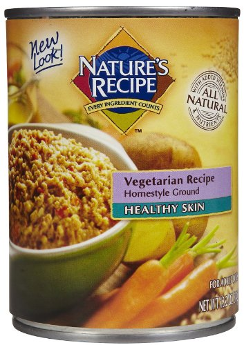 Nature's Recipe Canned Dog Food for Adult Dog, Healthy Skin Vegetarian Recipe (Pack of 12 13.2 Ounce Cans), My Pet Supplies