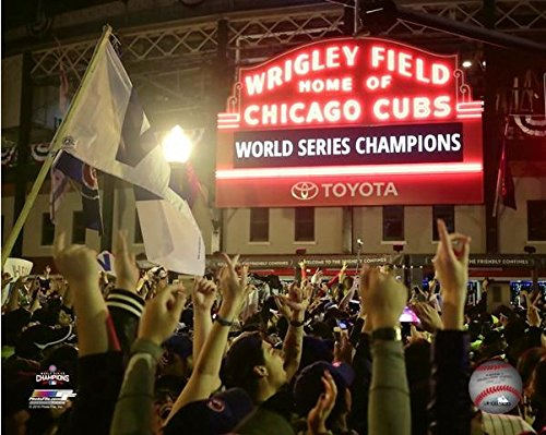 Wrigley Field Chicago Cubs 2016 World Series Champions Celebration Photo (Size: 8