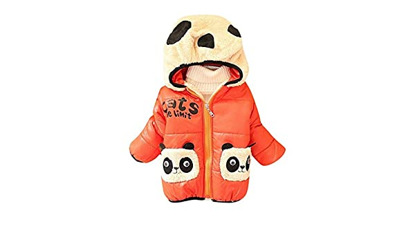 Baby Girl Zipped Quilted Jacket Lightweight Soft WarmHoodie Padded Coat Sweety A305Orange