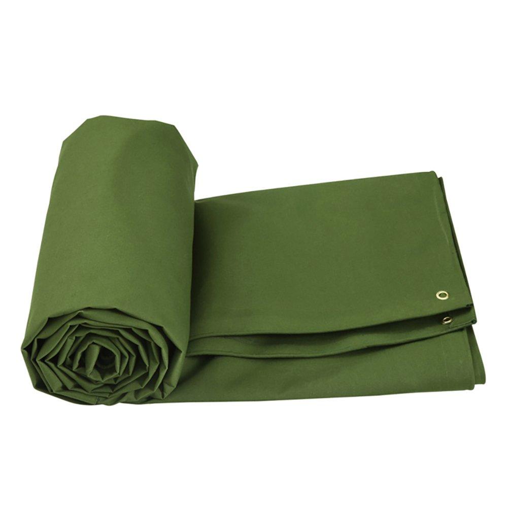 GUOWEI-pengbu ターポリン キャンバス リノリウム カバー シェード 日焼け止め 防水 防塵の 耐摩耗性 厚い 屋外 (色 : Green, サイズ さいず : 4.85x3.85m) B07FYL2LXC 4.85x3.85m|Green Green 4.85x3.85m