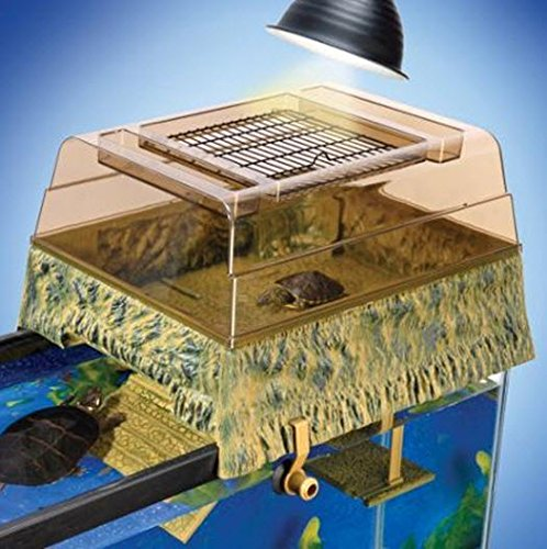 Penn Plax Reptology Life Science Turtle-Topper Above-Tank Basking Platform (Natural)