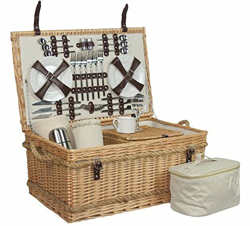 Premium Fully Fitted 6 Person Picnic Basket by Red Hamper