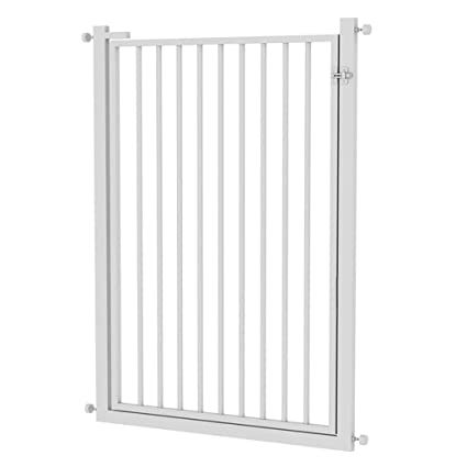 Pet Cat Dog Gate,Fence Encrypted Door Fence Stair Gates With Pet Door (Color