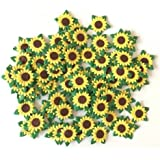 Sunflowers Mulberry Paper - 25mm Yellow Paper Flowers with Brown Centre 100 Pcs - Best for Scrapbooking and Creative Craft Projects, Thailand By WADSUWAN SHOP