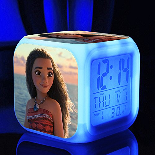 Color Changing Digital LED Moana Disney Alarm Clock