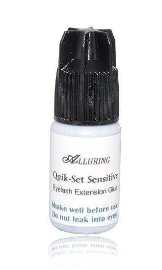 da56342bfad Amazon.com : Quik-Set Sensitive Glue (3ml) Eyelash Extension Adhesive Fast  Drying Time : Fake Eyelashes And Adhesives : Beauty