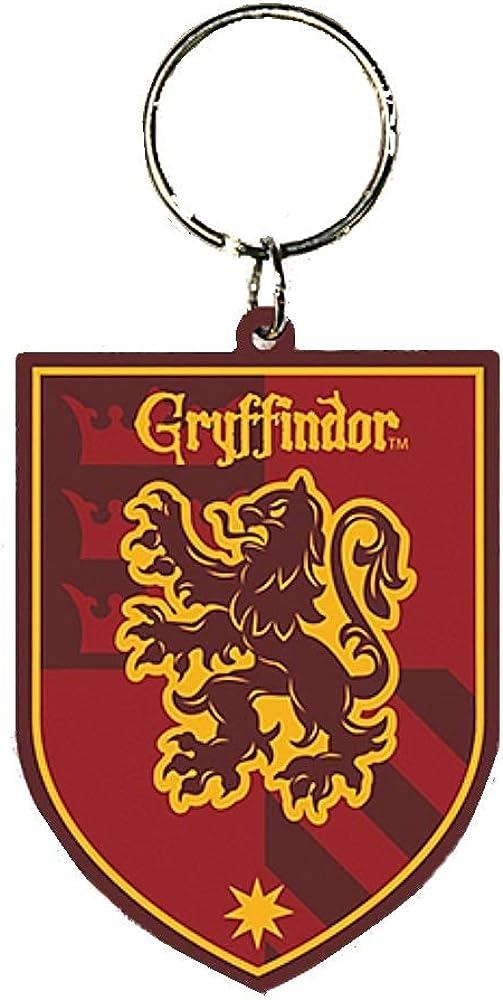 Genuine Warner Bros Harry Potter Hufflepuff Crest Rubber Keyring Fob Hogwarts