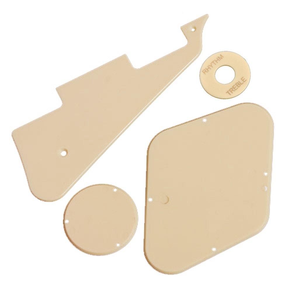 Kmise 1set(pickguard/cavity /Switch Covers/pickup Selector Plate)for LP Guitar Cream Ltd
